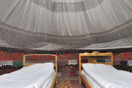 Deluxe Yurt for 2 people decorated in kirghiz tradition