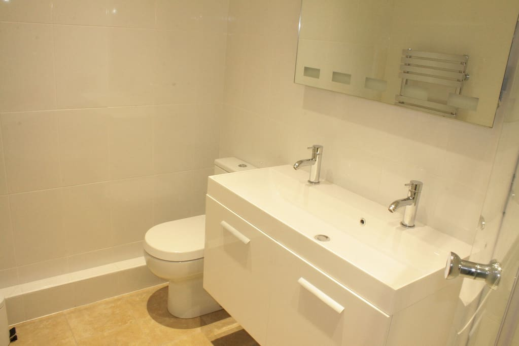 On suite toilet/shower