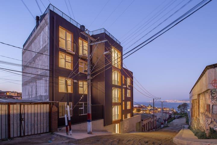 Departamento nuevo con vista al mar en Valparaíso
