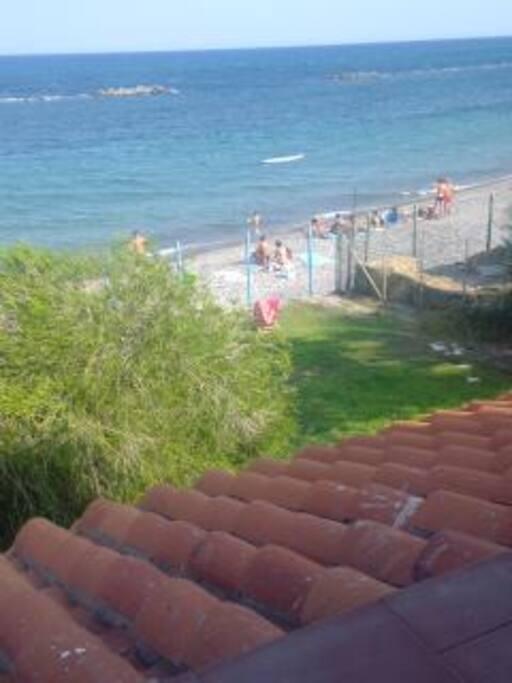 Vista dalla terrazza.