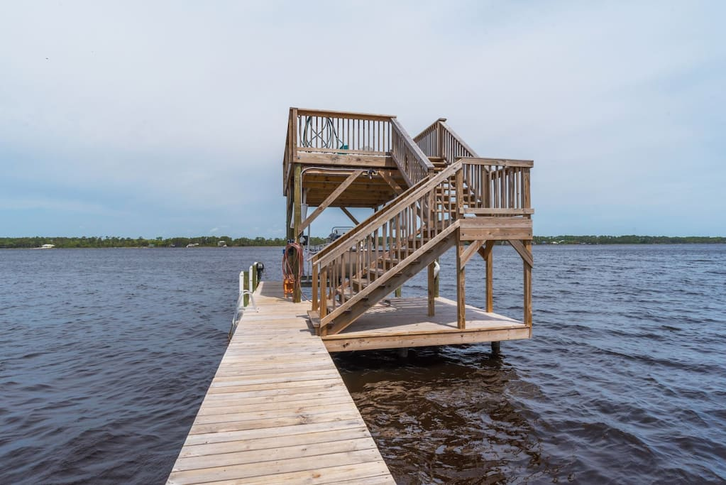 Fishing Pier with Sun Deck