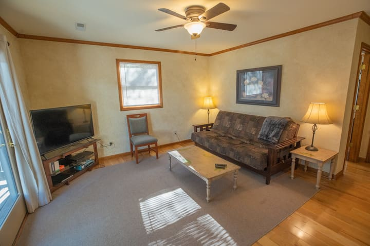 Main Level Den with Futon/couch