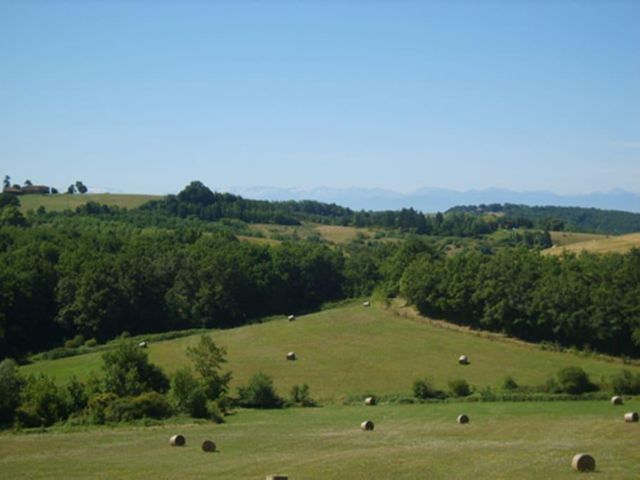 South facing Pyrénées views