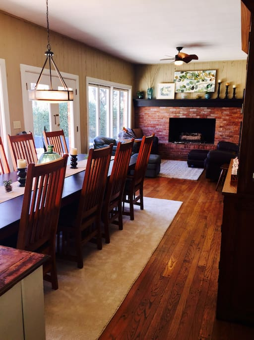 Dining room open to family room/kitchen