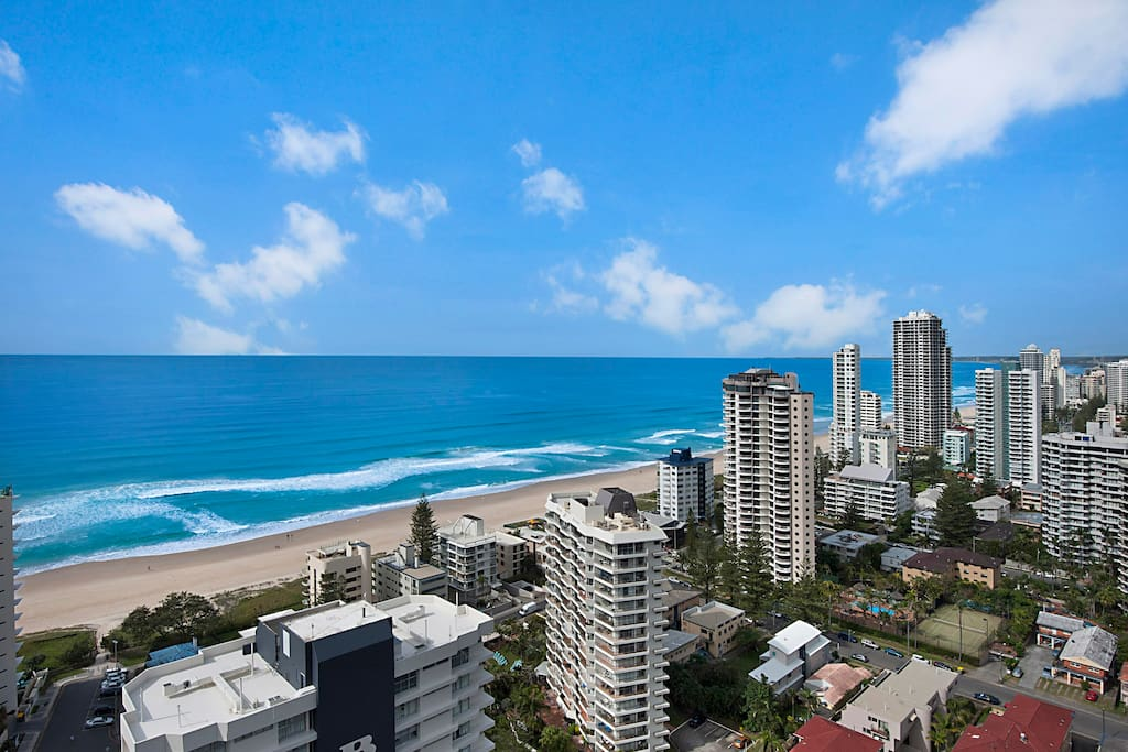 More stunning views of ocean and looking down toward Broadbeach