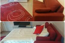 Although the sofa-bed itself is comfy,  extra mattress is provided to make you feel more comfortable