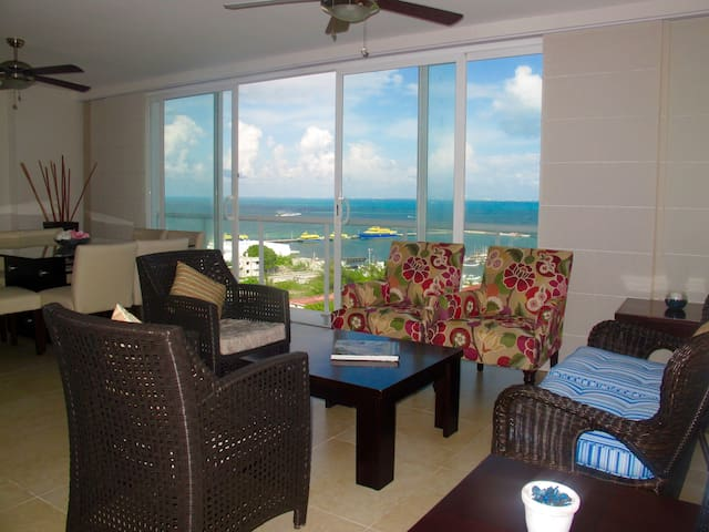 Furnished apartment ocean front - Cancún - Apartament