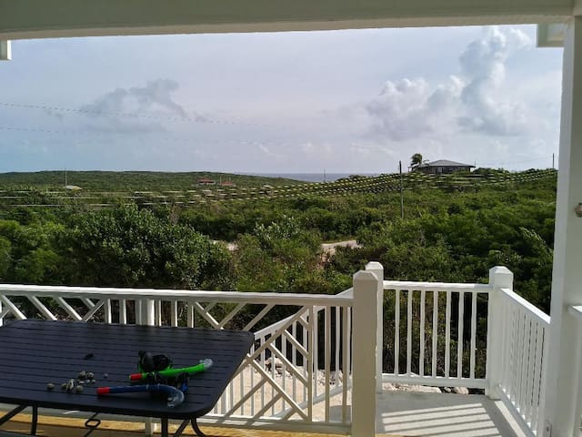 Morning view of Atlantic from porch