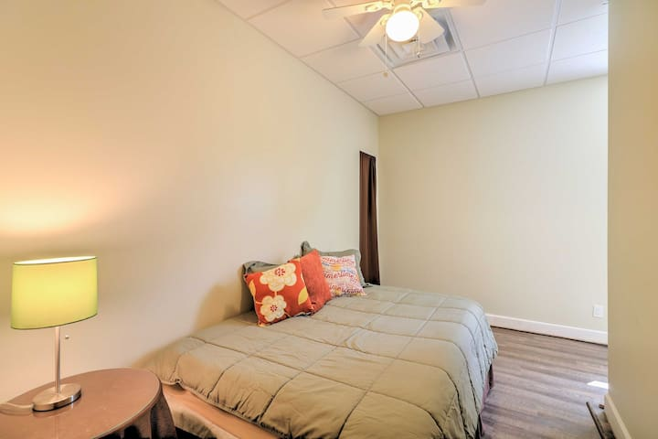 This second basement bedroom offers a full bed, sure to afford its guests peaceful nights of sleep.