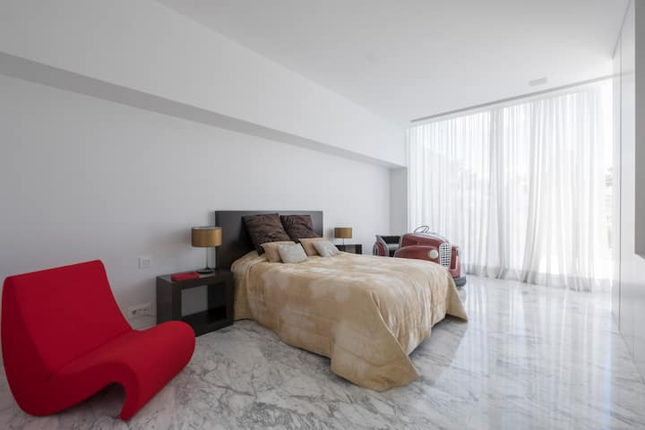 Double bedroom in a private luxury villa in Madrid