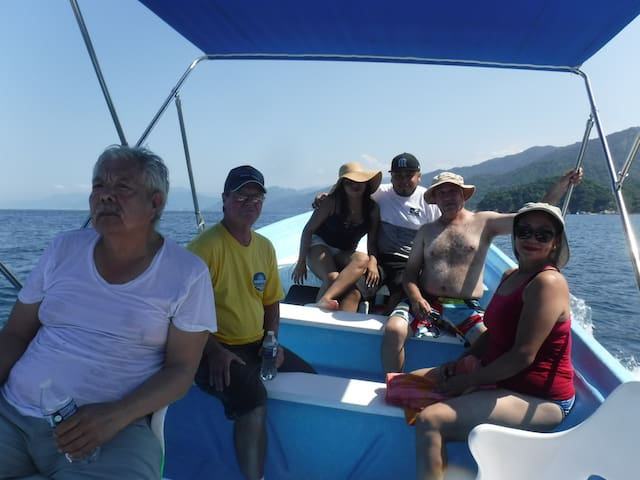 Get together with the other guest  to go on a boat trip
