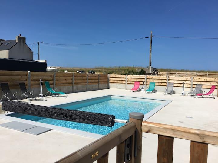 Maison avec piscine à 50 mètres de la mer