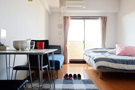 ♯Gu807  Namba Good location WiFi clean cozy - Osaka-shi - Apartamento