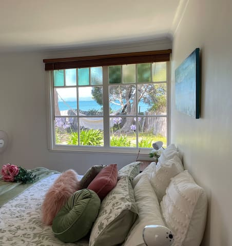 View from main bedroom (king bed) summer