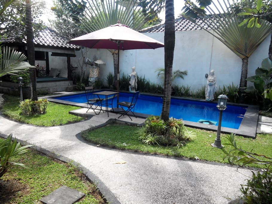 Garden, Gazebo and Pool
