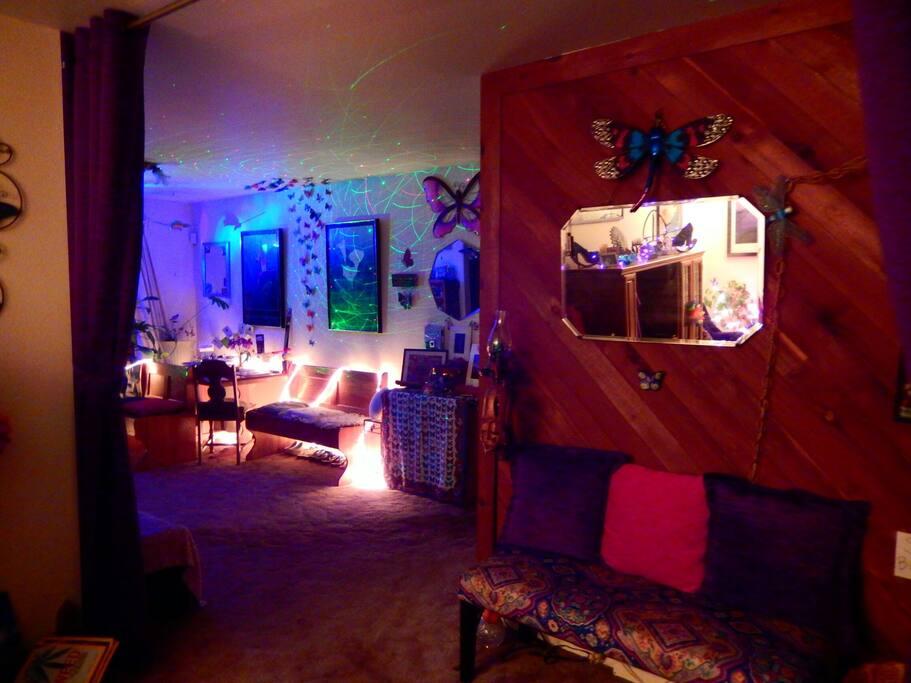 dining room disco lights