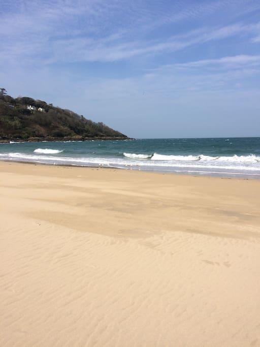 Carbis Bay Beach only 5 mins away
