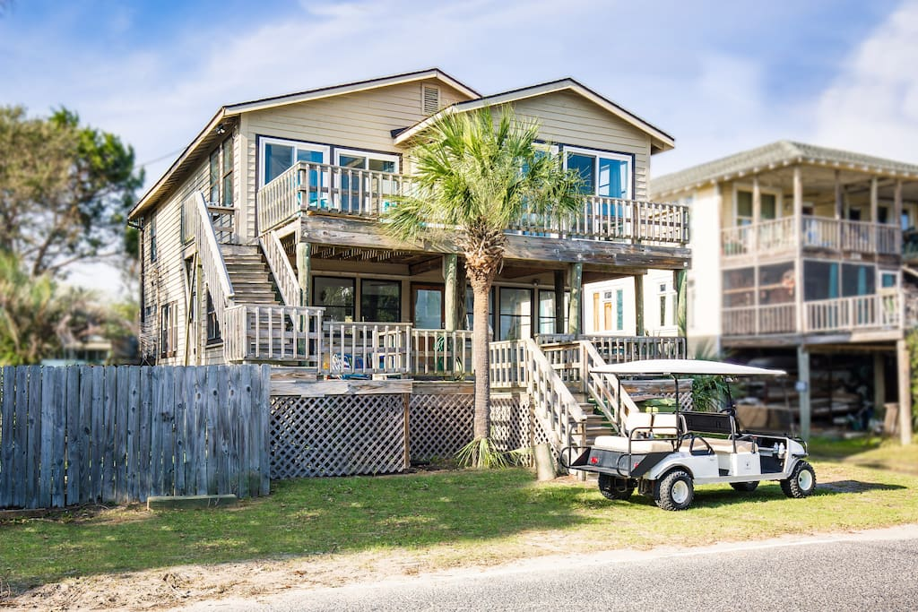 Two story duplex, High Tide is the unit on the top.