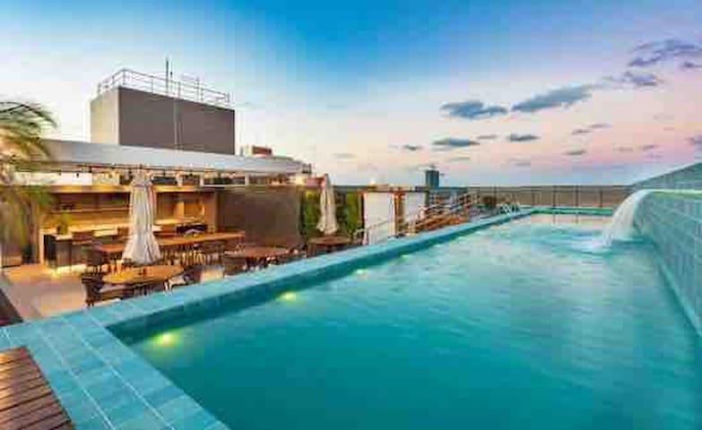 Flat Precioza com Luxo e conforto. 234 mts  praia.