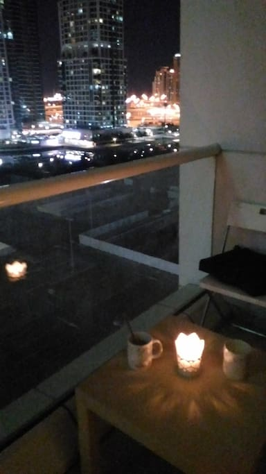 Balcony by night.
