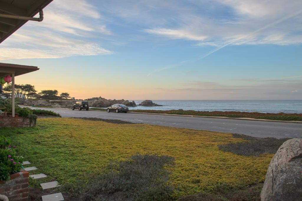Watch the sea life and the beautiful sunsets from the spacious front porch.