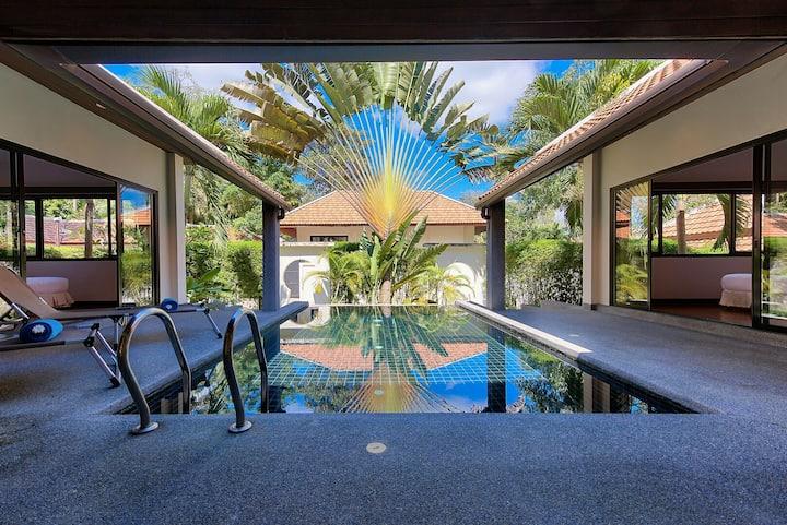 Villa cosy et lumineuse avec piscine, proche plage