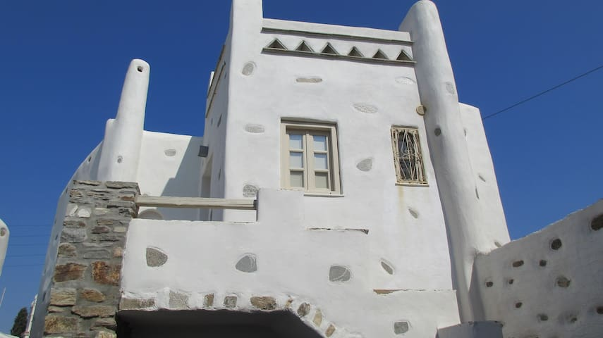 Tradition & luxury in Paros- manor house for 10ppl - Lefkes - Řadový dům