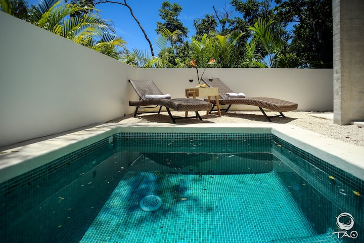 With Private Pool 2BR + Access to Beach!