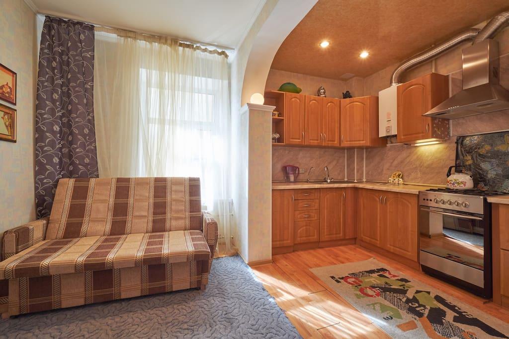кухня-гостиная (kitchen-living room)