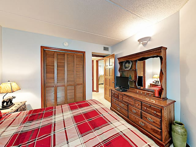 Settle in and watch a movie on the TV (with DVD player) in the 2nd bedroom.