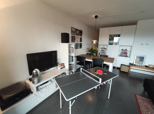 Amsterdam Apartment with ping pong table
