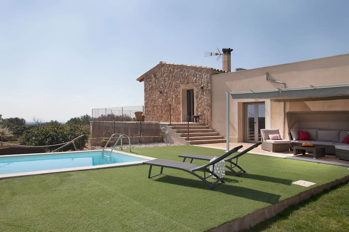 Child-friendly Country Estate with Pool, Football Field, Terraces & Garden; Parking Available