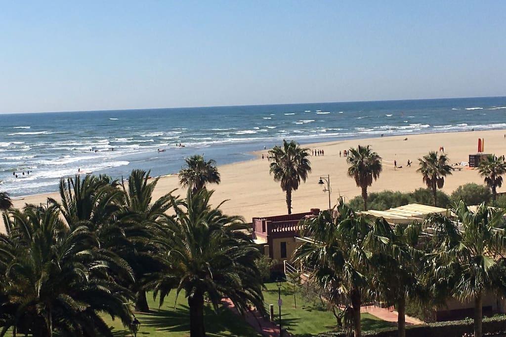 Vista de la playa desde la terraza