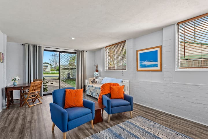 Spacious living area with step free access from front driveway and your own parking space