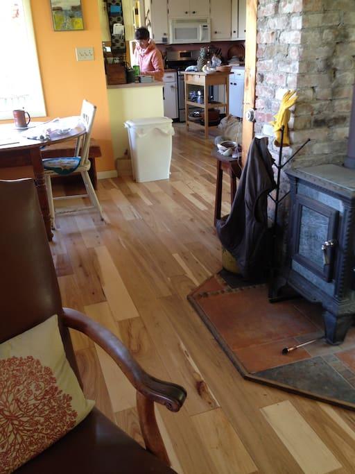 New Hickory hardwood floor