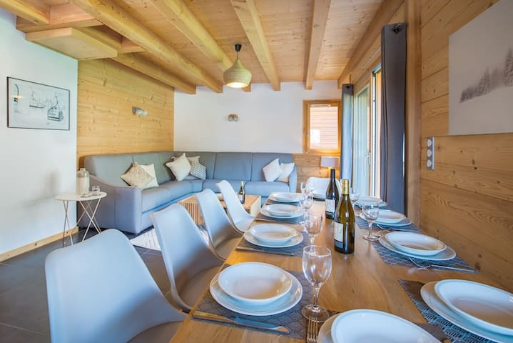 Beautiful Central Morzine Chalet Sleeps 10 people
