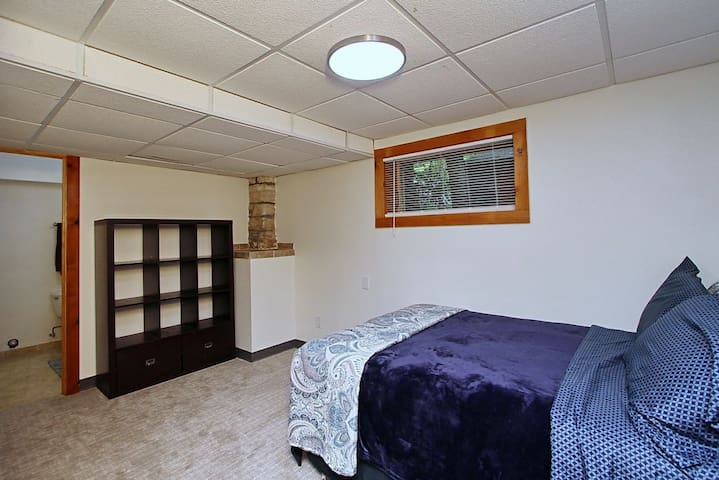 Lower Level bedroom with full size bed