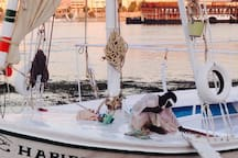 Our felucca needs painting