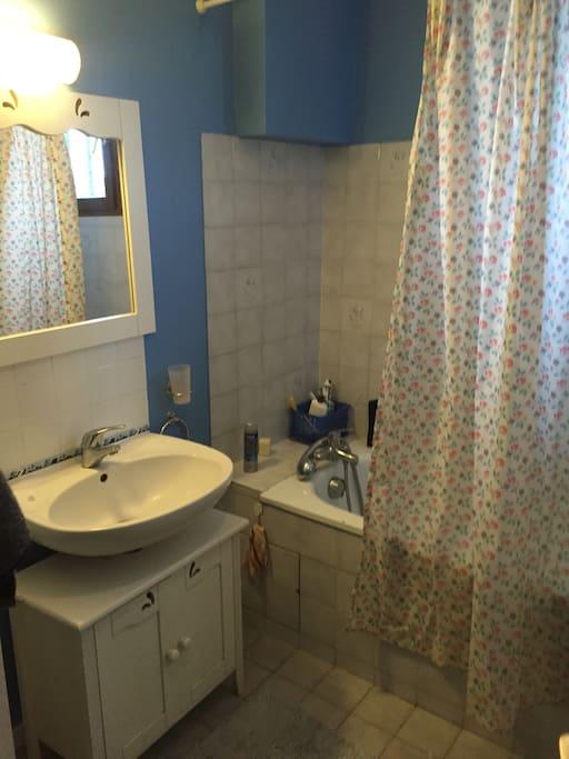 La première salle de bain Avec baignoire