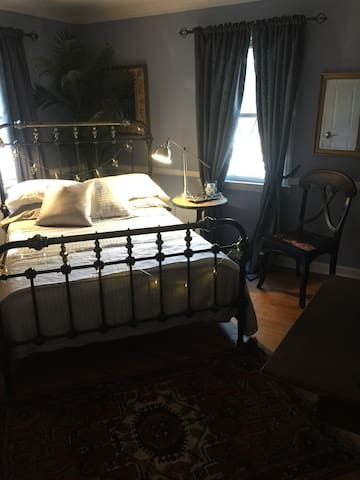 Charming guest room for single woman guest.