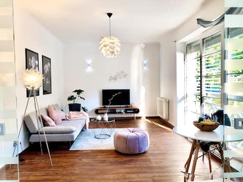 Licht design appartement aan de voet van Hutberg