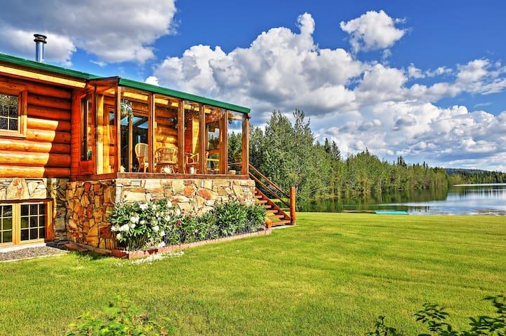 Remote 5BR Salcha Home on 7 Acres w/Lakefront Deck