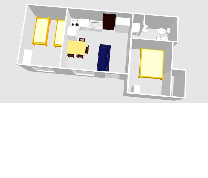 floorplan - bed sizes are realistic