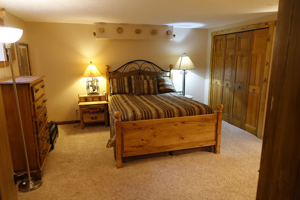 Private bedroom #1 - Queen bed, Santa Fe style bedroom