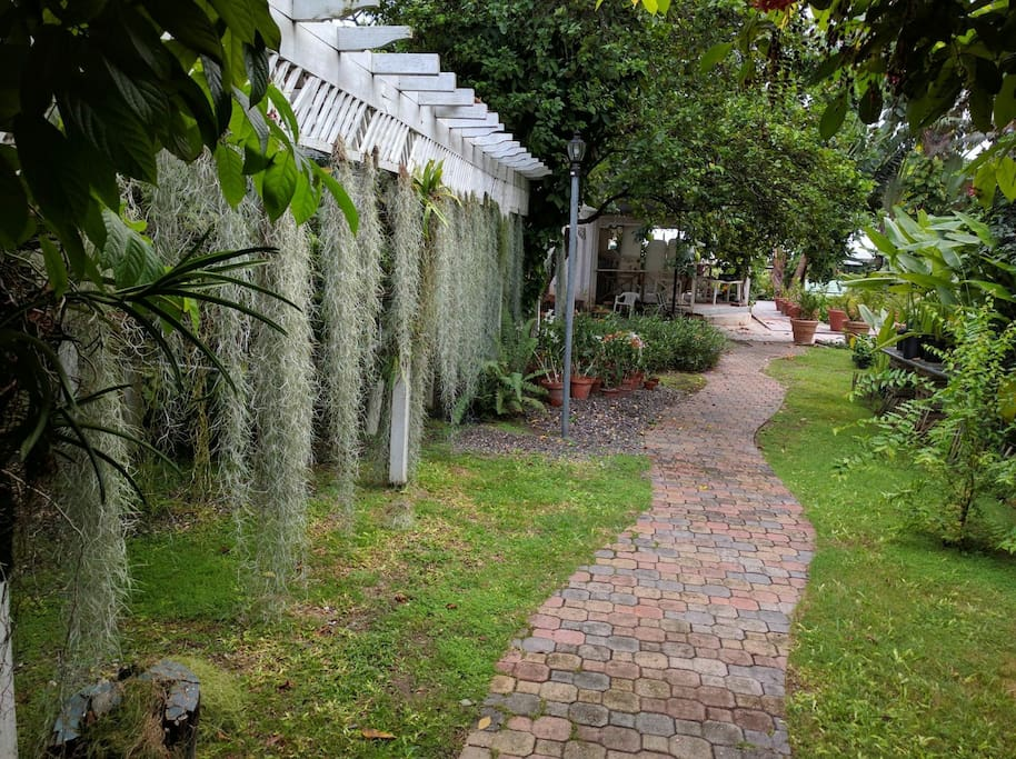 walk way to your cozy cottage