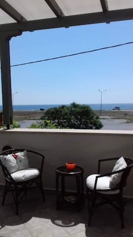 First row apartment with sea view