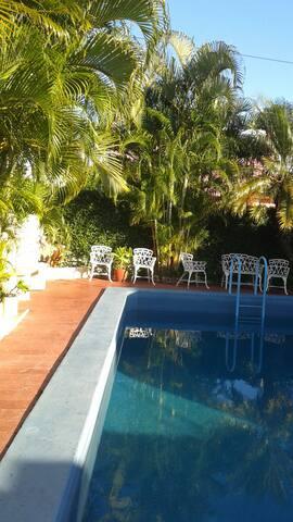 area de la piscina