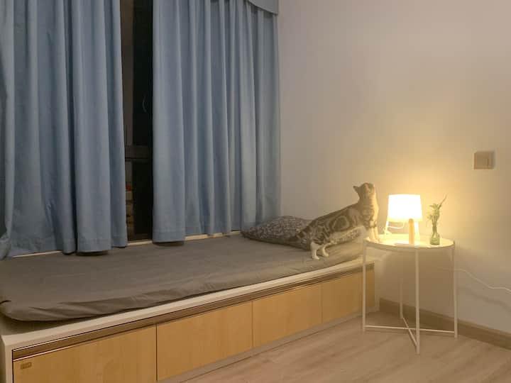 【猫屋】儿童房/郊区日式民宿/湖景壹号庄园