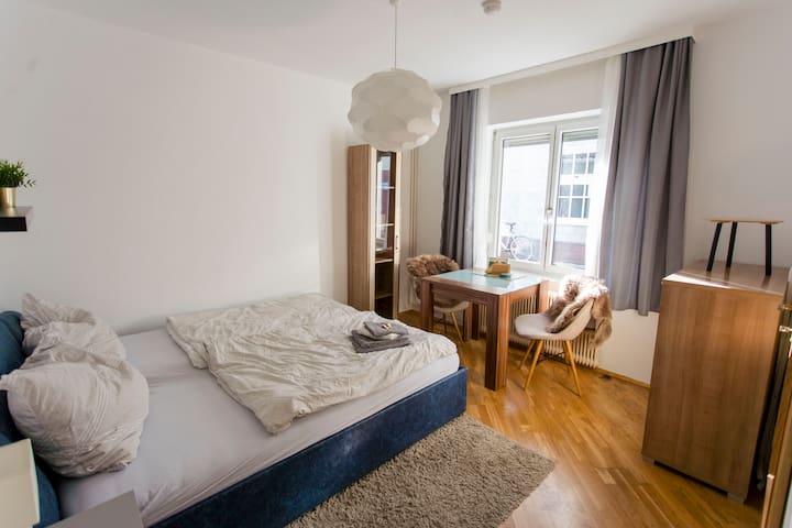 Homely, lively apartment next to Stadtpark & Uni