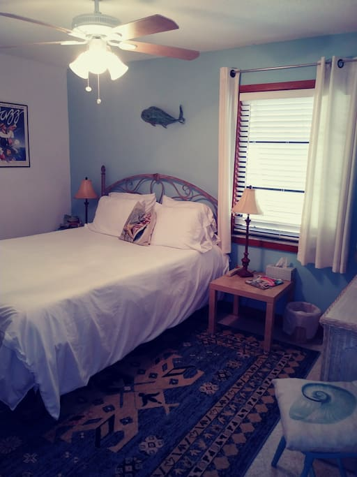 Beachy Contemporary Guest Room. Welcome and Enjoy Your Stay!